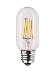 abordables -1pc 1 W 190-290 lm E26 / E27 Ampoules à Filament LED T45 4 Perles LED Blanc Chaud