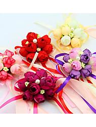 ราคาถูก -ดอกไม้สำหรับงานแต่งงาน ช่อดอกไม้ข้อมือ / ดอกไม้ประดิษฐ์ งานแต่งงาน ดอกไม้ประดิษฐ์ 0-10 ซม.