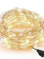 abordables -5m Guirlandes Lumineuses 50 LED SMD 0603 Blanc Chaud / Blanc / Rouge Découpable / Soirée / Décorative 5 V