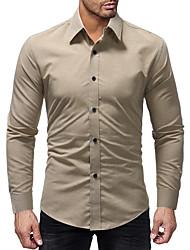 お買い得  -メンズシャツ - 無地のシャツの襟