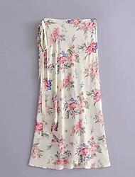 cheap -women's maxi swing skirts - floral