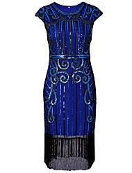 tanie -Damskie Podstawowy Bodycon Pochwa Sukienka - Geometric Shape Do kolan
