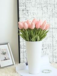abordables -Fleurs artificielles 1 Une succursale Simple Moderne contemporain Style Simple Tulipes Fleur de Table