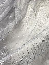 お買い得  -チュール 幾何学模様 高伸縮性 140 cm 幅 ファブリック のために 結婚式 売った 〜によって の メーター