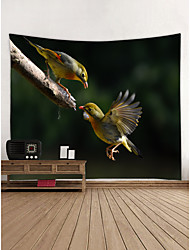 cheap -Parrot Wall Decor 100% Polyester Contemporary Wall Art, Wall Tapestries Decoration