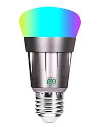 Недорогие -YWXLIGHT® 1шт 11 W 800-900 lm E26 / E27 Круглые LED лампы - Светодиодные бусины COB Smart Контроль APP Диммируемая RGBW 85-265 V / RoHs