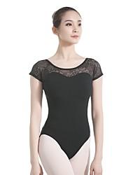 economico -Danza classica Body Per donna Addestramento / Prestazioni Cotone Di pizzo Manica corta Calzamaglia / Pigiama intero