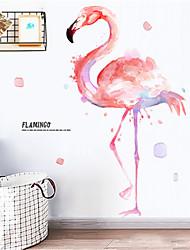 Недорогие -Ins Girl Heart украшения комнаты фламинго наклейки на стены чистая красная спальня наклейки аренда дома ремонт наклейки обои
