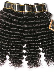 olcso -6 csomag Brazil haj Mély hullám 100% Remy hajszövési csomó Az emberi haj sző Egy Pack Solution Emberi haj tincsek 8-28 hüvelyk Természetes szín Emberi haj sző Vízesés Puha új Human Hair Extensions Női
