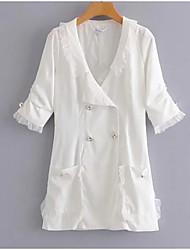 levne -Dámské Bavlna Pouzdro Šaty Mini Do V