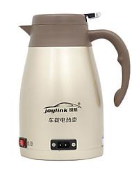 Недорогие -Электрический чайник для автомобилей из нержавеющей стали 1,2 л, с низким уровнем шума / удобный дизайн / защита от перегрева / переносной электрический чайник