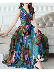 levne -dámské koleno swing šaty růžové zelené s m l xl