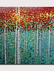 abordables -mintura® peint à la main abstrait couteau arbres peintures à l'huile sur toile moderne photo d'art mural pour la décoration maison prêt à accrocher