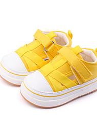 tanie -Dla chłopców / Dla dziewczynek Obuwie Płótno Wiosna Wygoda Mokasyny i buty wsuwane na Żółty / Czerwony / Różowy
