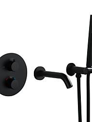 Недорогие -Смеситель для ванны Окрашенные отделки На стену Медный клапан Bath Shower Mixer Taps