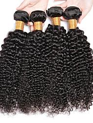 저렴한 -번들 6 개 브라질리언 헤어 Kinky Curly 버진 헤어 인간의 머리 직조 번들 헤어 한 팩 솔루션 8-28inch 자연 색상 인간의 머리 되죠 신생아 오더 프리 선물 인간의 머리카락 확장 여성용 / 처리되지 않은