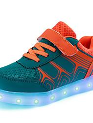 رخيصةأون -للصبيان / للفتيات أحذية PU الربيع / الخريف أحذية مضيئة أحذية رياضية المشي LED إلى أطفال برتقالي / أصفر / وردي فاتح