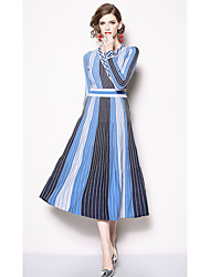 5a0279aeceb cheap Cocktail Dresses-Casual Dress A-Line V Wire Tea Length Jersey Dress  with