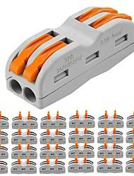 Недорогие -ZDM® 25 шт. Аксессуары для ламп / Газонокосилка Пластиковые & Металл Электрический разъем для светодиодной полосы света