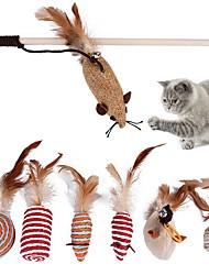 Χαμηλού Κόστους -Σύνολα Χνουδωτά Παιχνίδια Φιλικό προς τα Κατοικίδια Άλλο Υλικό Για Γάτες