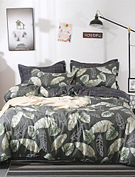 preiswerte -Bettbezug-Sets Solide / Zeitgenössisch Polyester Bedruckt 4 StückBedding Sets
