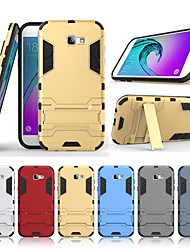 cheap -Case For Samsung Galaxy A7(2017) Shockproof / with Stand Back Cover Solid Colored / Armor Hard PC for A7(2017)