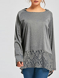 cheap -Women's Shirt - Solid Colored Gray XL