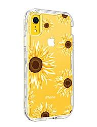 voordelige -BENTOBEN hoesje Voor Apple iPhone XR Schokbestendig / Transparant / Patroon Achterkant Bloem Hard TPU / PC voor iPhone XR