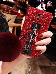 baratos -Capinha Para Huawei P20 lite / Huawei Mate 20 Glitter Brilhante Capa traseira Sólido Rígida Plástico para Huawei P20 / Huawei P20 Pro / Huawei P20 lite