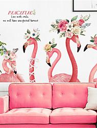 Недорогие -nordic ins фламинго обои самоклеящиеся наклейки на стены чистый красный ремонт комнаты творческий спальня украшения обои