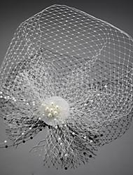 abordables -Filet Fascinators / Coiffure avec Perle fausse / Imitation Perle 1 pièce Mariage / Occasion spéciale / Anniversaire Casque