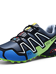 cheap -Men's Light Soles Synthetics Spring Sporty Athletic Shoes Running Shoes / Hiking Shoes Non-slipping Color Block Black / Black / Green / Royal Blue