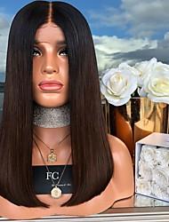 halpa -Synteettiset peruukit Suora Tyyli Keskiosa Suojuksettomat Peruukki Ruskea Vaalean ruskea Synteettiset hiukset 16 inch Naisten Naisten Ruskea Peruukki Pitkä Luonnollinen peruukki