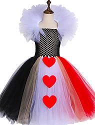 お買い得  -子供 / 幼児 女の子 甘い / かわいいスタイル 虹色 メッシュ ノースリーブ 膝丈 スパンデックス ドレス