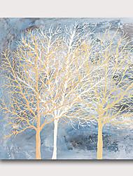 billige -håndmalt strukket oljemaleri lerret klar til å henge abstrakt stil materiale høye antall trær blå
