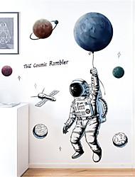 Недорогие -Креативная технология Sense Space Planet Астронавт стены стикеры детская комната общежитие спальня украшения стены стикеры