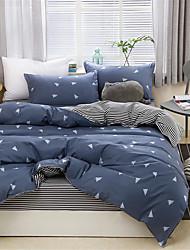 billige -Sengesett Geometrisk Polyester Trykket 4 delerBedding Sets