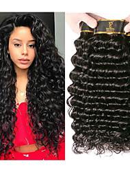 olcso -4 csomópont Brazil haj Mély hullám 100% Remy hajszövési csomó Az emberi haj sző Késleltető Bundle Hair 8-28 hüvelyk Természetes szín Emberi haj sző Szagmentes Kreatív Selymes Human Hair Extensions Női