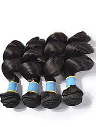 billiga -4 paket Indiskt hår Löst vågigt Remy-hår Obehandlat Mänsligt hår Human Hår vävar bunt hår Hårförlängningar av äkta hår 8-28 tum Naurlig färg Hårförlängning av äkta hår Luktfri Ny ankomst Heta