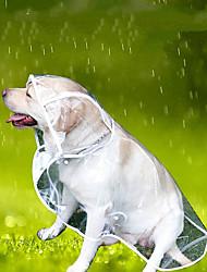 abordables -Perros Impermeable Ropa para Perro Un Color Blanco Otros Materiales Disfraz Para Corgi Beagle Bulldog Primavera, Otoño, Invierno, Verano Casual / Diario