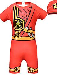 ราคาถูก -ชุดว่ายน้ำ ชุดว่ายน้ำชุดคอสเพลย์ Soldier / Warrior สาวบี สำหรับเด็ก คอสเพลย์และคอสตูม คอสเพลย์ วันฮาโลวีน สีเหลือง / สีเขียว / ฟ้า Printing Polyster เด็กผู้ชาย วันคริสต์มาส วันฮาโลวีน เทศกาลคานาวาล