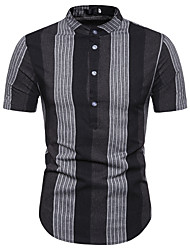 お買い得  -男性用 Tシャツ カラーブロック ブラック L