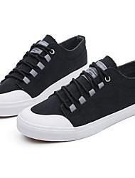 baratos -Homens Sapatos Confortáveis Lona Primavera Tênis Preto / Cinzento