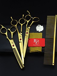 cheap -Dogs / Rabbits / Cats Grooming Scissor Portable Gold