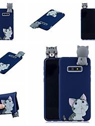 halpa -Etui Käyttötarkoitus Samsung Galaxy S9 Plus / S8 Plus Kuvio Takakuori Kissa / Piirretty Pehmeä TPU varten S9 / S9 Plus / S8 Plus