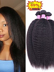 olcso -4 csomópont Brazil haj Göndör egyenes Kémiai anyagoktól mentes / nyers Bundle Hair Emberi haj tincsek Szövés 8-28 hüvelyk Természetes szín Emberi haj sző Újszülött Puha Legjobb minőség Human Hair