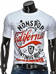 お買い得  -男性用 Tシャツ レタード ホワイト L