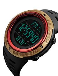 Недорогие -SKMEI Муж. Нарядные часы Японский Цифровой Нержавеющая сталь силиконовый Черный 50 m Защита от влаги Календарь Хронометр Цифровой На каждый день На открытом воздухе Цветной - Красный Синий Золотистый