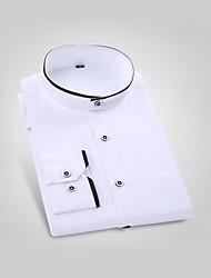 abordables -Hombre Camisa Un Color Blanco 41