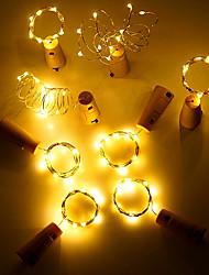 billige -3M Lysslynger 30 LED Varm hvit / RGB / Hvit Kreativ / Fest / Dekorativ Batterier drevet 1pc